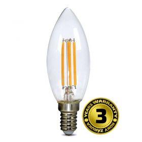 Solight LED žárovka retro, svíčka 4W, E14, 3000K, 360°, 440lm