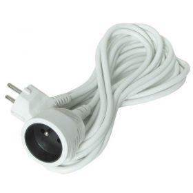 Solight prodlužovací kabel - spojka, 1 zásuvka, bílá, 15m