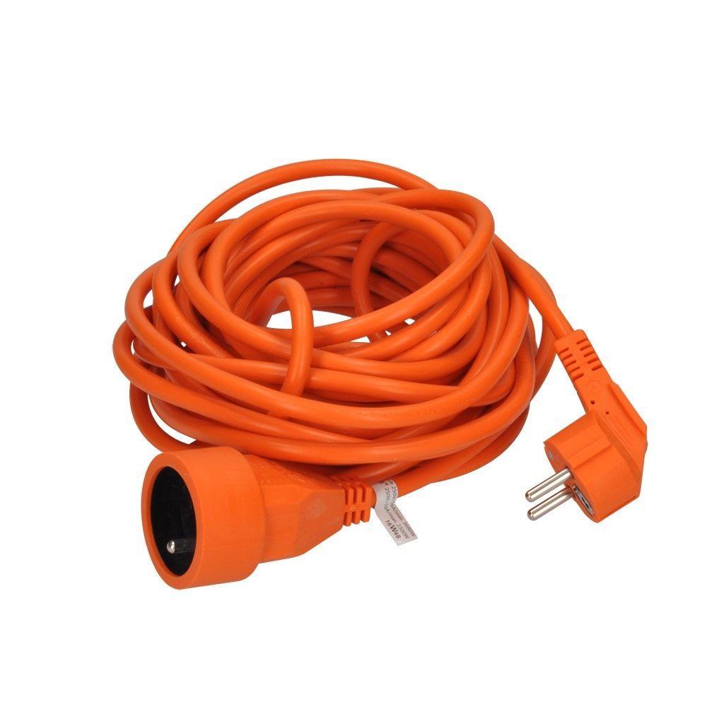 Solight prodlužovací kabel - spojka, 1 zásuvka, oranžová, 10m