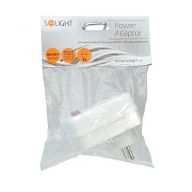 Solight zásuvka, 10A, bílá, vypínač