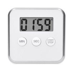 Solight digitální kuchyňská minutka, odpočítání nebo přičítání času, bílá barva, magnet pro přichycení