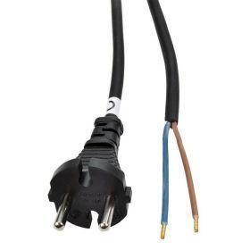 Solight flexo šňůra, 2x 1mm2, gumová, černá, 5m