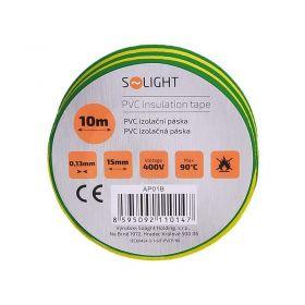 Solight izolační páska, 15mm x 0,13mm x 10m, žlutozelená
