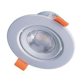 Solight LED podhledové světlo bodové, 9W, 720lm, 3000K, kulaté, stříbrné