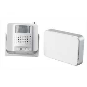 Solight bezdrátový hlásič pohybu/gong, externí PIR čidlo, napájení bateriemi, bílý