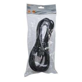 Solight flexo šňůra, 3x 1mm2, gumová, černá, 5m