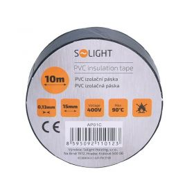 Solight izolační páska, 15mm x 0,13mm x 10m, černá