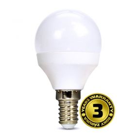 Solight LED žárovka, miniglobe, 6W, E14, 6000K, 450lm
