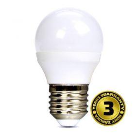 Solight LED žárovka, miniglobe, 6W, E27, 6000K, 450lm