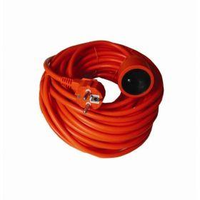 Solight prodlužovací kabel - spojka, 1 zásuvka, oranžová, 25m