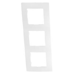 Solight rámeček Legrand Niloé, trojnásobný, bílý