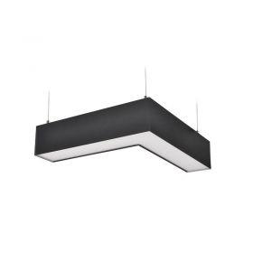 Solight LED lineární závěsné osvětlení, L konektor 18W, 1500lm, Lifud, 3 roky záruka, černá barva