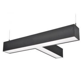 Solight LED lineární závěsné osvětlení, T konektor 27W, 2300lm, Lifud, 3 roky záruka, černá barva