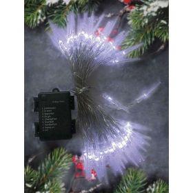Solight LED venkovní rampouchy, 50LED, časovač, 8 funkcí, IP44, 3xAA baterie