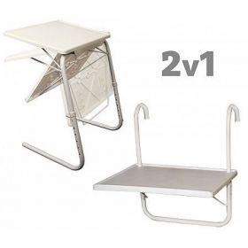 Závěsný balkonový stolek 52 x 40 cm