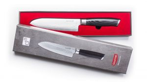Sada nožů G21 Gourmet Damascus v bambusovém bloku 5 ks + brusný kámen