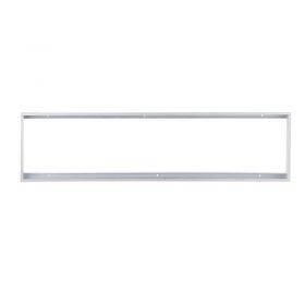 Solight hliníkový stříbrný rám pro instalace 295x1195mm LED panelů na stropy a zdi, výška 50mm