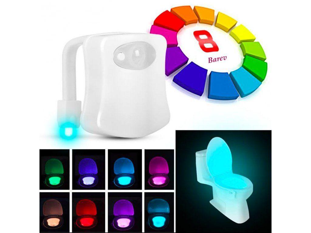 Noční LED světlo na toaletu s pohybovým senzorem P00647 MEDIASHOP
