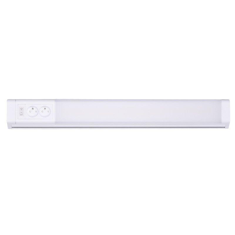 Solight LED kuchyňské svítidlo, 2x zásuvka, vypínač, 10W, 4100K, 51cm