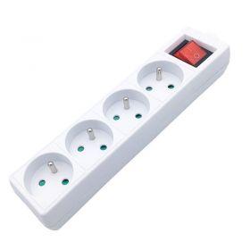Solight vícenásobná zásuvka, 4 zásuvky, vypínač