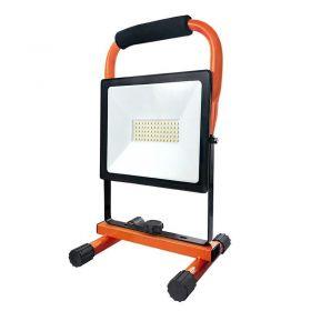 Solight LED reflektor PRO se sklopným stojanem, 50W, 4250lm, 5000K, kabel se zástrčkou, IP65