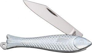 Nůž skládací - Mikov rybička stříbrná