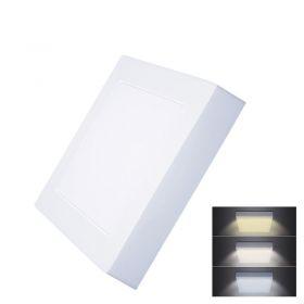 Solight LED mini panel CCT, přisazený, 12W, 900lm, 3000K, 4000K, 6000K, čtvercový