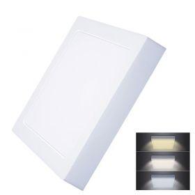 Solight LED mini panel CCT, přisazený, 18W, 1530lm, 3000K, 4000K, 6000K, čtvercový