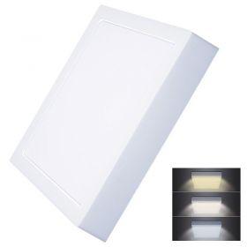 Solight LED mini panel CCT, přisazený, 24W, 1800lm, 3000K, 4000K, 6000K, čtvercový