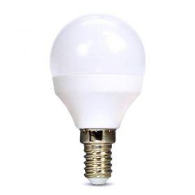 Solight LED žárovka, miniglobe, 6W, E14, 3000K, 510lm, bílé provedení
