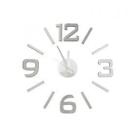 Samolepící hodiny G21 Classic Style, stříbrné