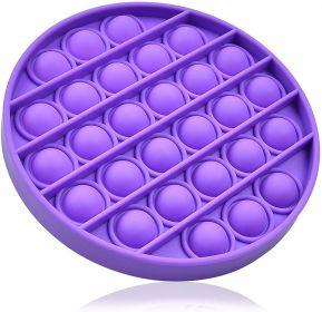Pop it  - Fidgetová antistresová hra - fialový kruh GMEX