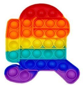 Pop it GMEX - duhový robot Rainbow běžící Among  Us