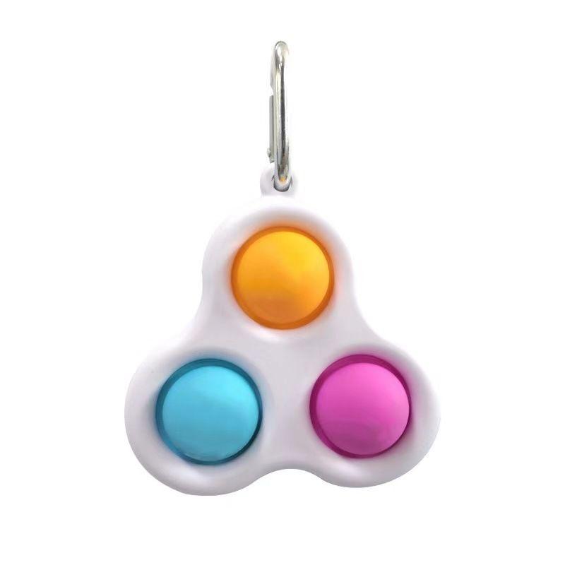 Pop it - Fidgetová antistresová hra - přívěšek na klíče barevný trio GMEX GASTROMEX