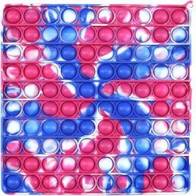 Pop it Mega GMEX - barevný čtverec velký včetně karabinky