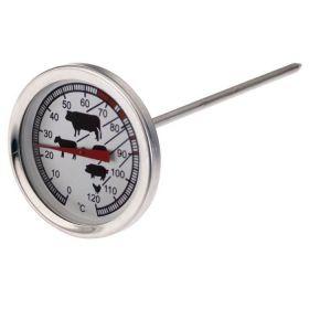 Teploměr jehlový nerez na pečení masa sonda 0-120°C
